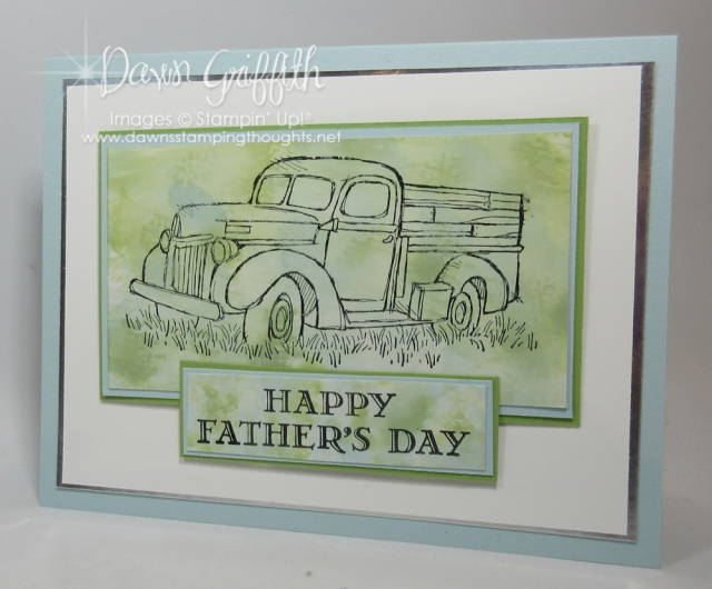 Happy Fathers Day card using the Polished Stone technique and the Country Livin' stamp set . card by Dawn Griffith