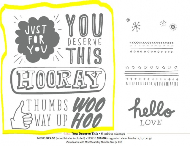 You Deserve This stamp set Dawn Griffith