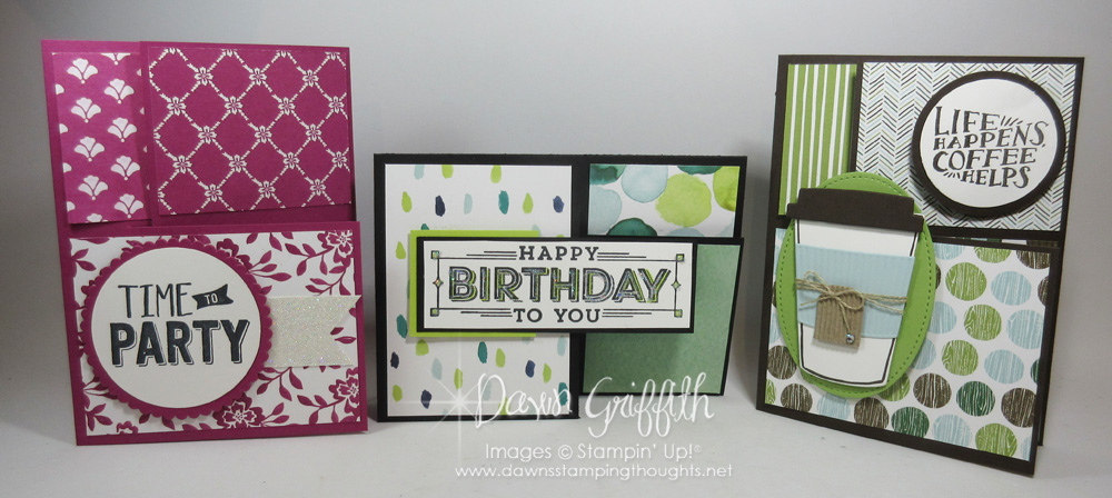 Split Closure Tri Fold Card Video  DawnS Stamping Thoughts