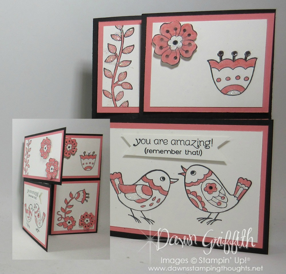 Split Closure Tri Fold card video - Dawn\'s Stamping Thoughts