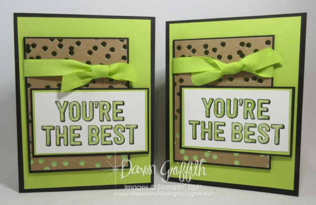 Your'e Delightful stamp set HOST only, You're the BEST Pop up Book fold. Lemon Lime Twistcardstock , Basic Black , Birthday card video posted on my blog www.DawnsStampingThoughts.net