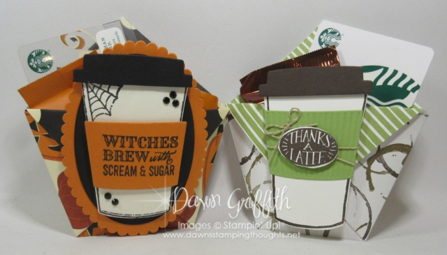 Diaper Fold gift card and Candy holder by Dawn Griffith video posted on my blog DawnsStampingThoughts.net
