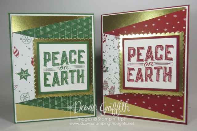 Fun Fold Christmas card video posted on my blog get all the details www.DawnsStampingThoughts.net