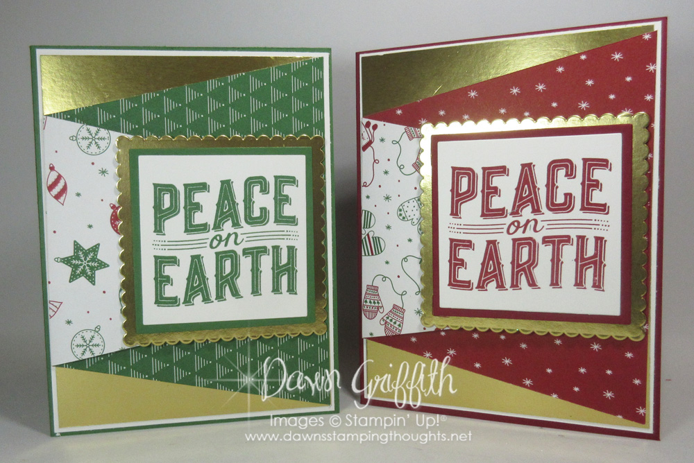 Fun Fold Christmas card video - Dawn\'s Stamping Thoughts