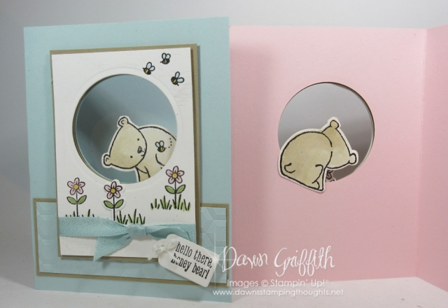 Hello Honey Bear card . Video posted on my blog today . www.DawnsStampingThoughts.net
