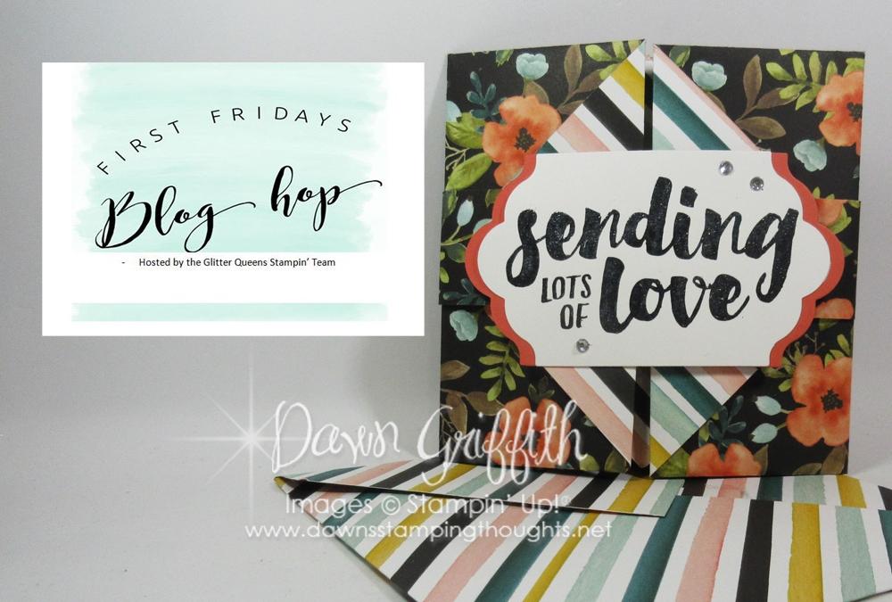 First Friday Glitter Queen Blog Hop ~Theme Designer Paper