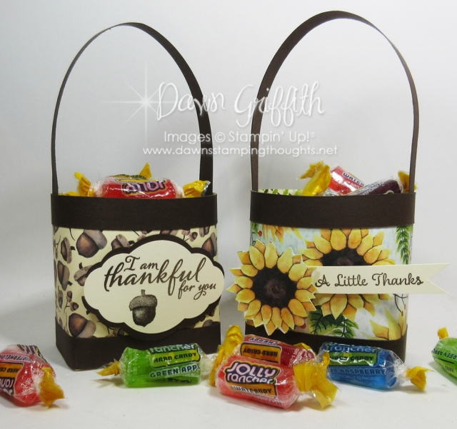 Thankful for You Tote of Candy and card GQ Blog hop Dawn Griffith