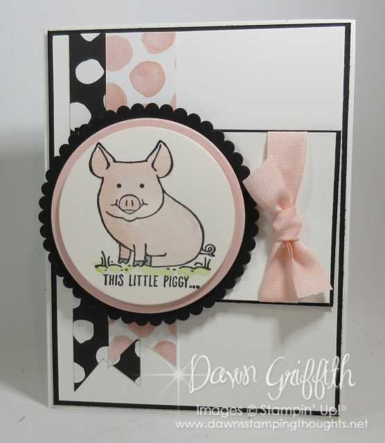 This Little Piggy says Happy Birthday inside looks just as awesome as the front by Dawn Griffith all the details on my blog today with our Glitter Queens blog hop www.DawnsStampingthoughts.net