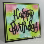 Embossing Paste Birthday card video