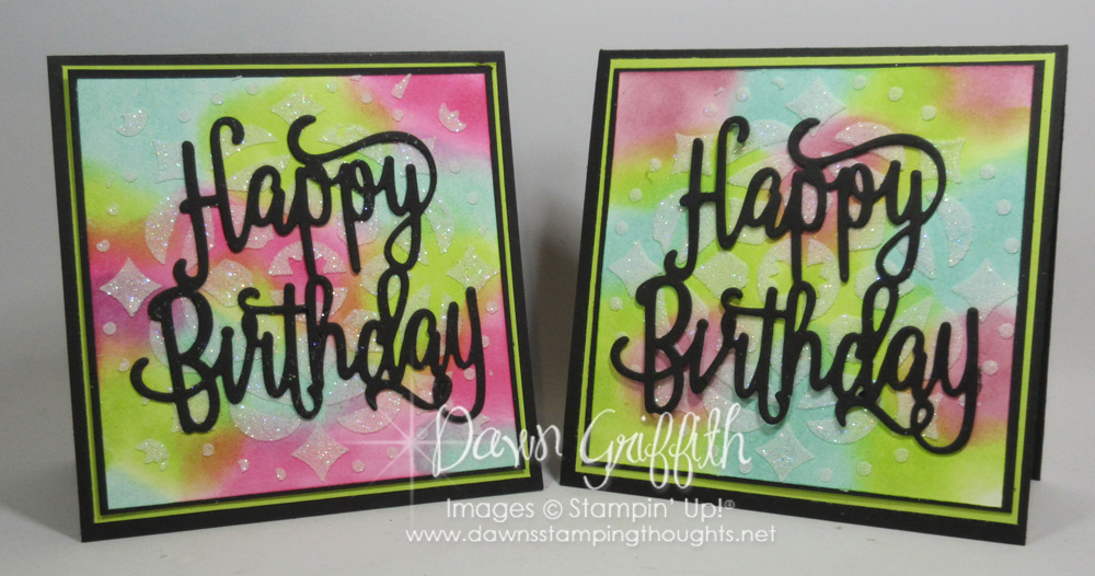 Embossing Paste Birthday card video Dawns Stamping Thoughts – Video Birthday Cards