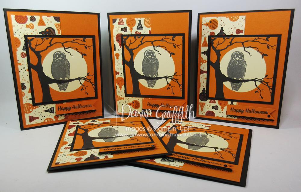 Simple Halloween card series ~ card #3 Spooky Owl