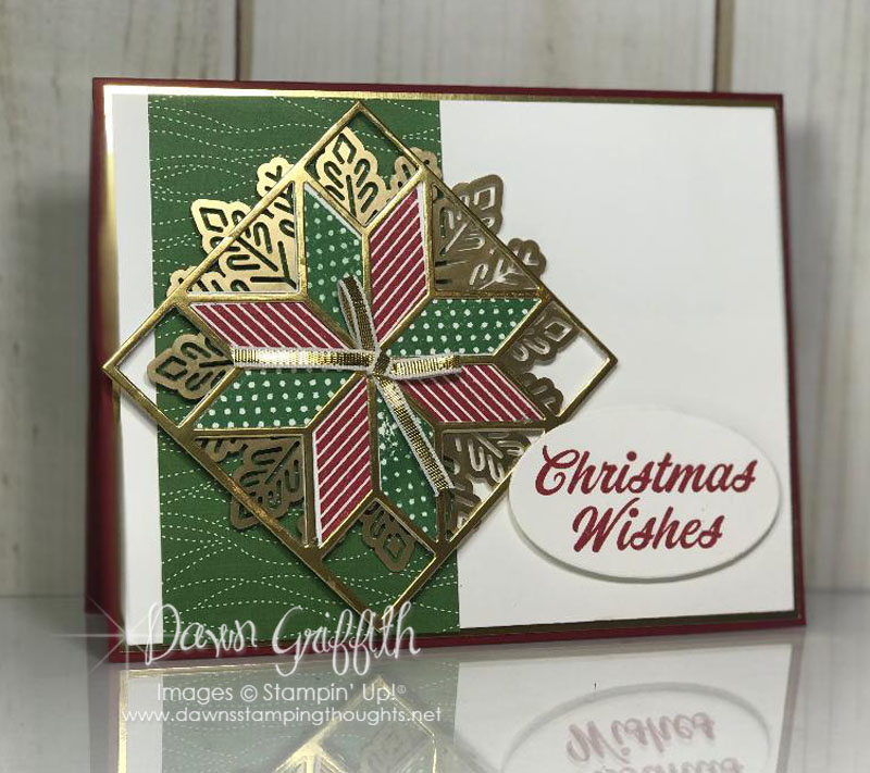 Christmas Quilt card video - Dawn\'s Stamping Thoughts
