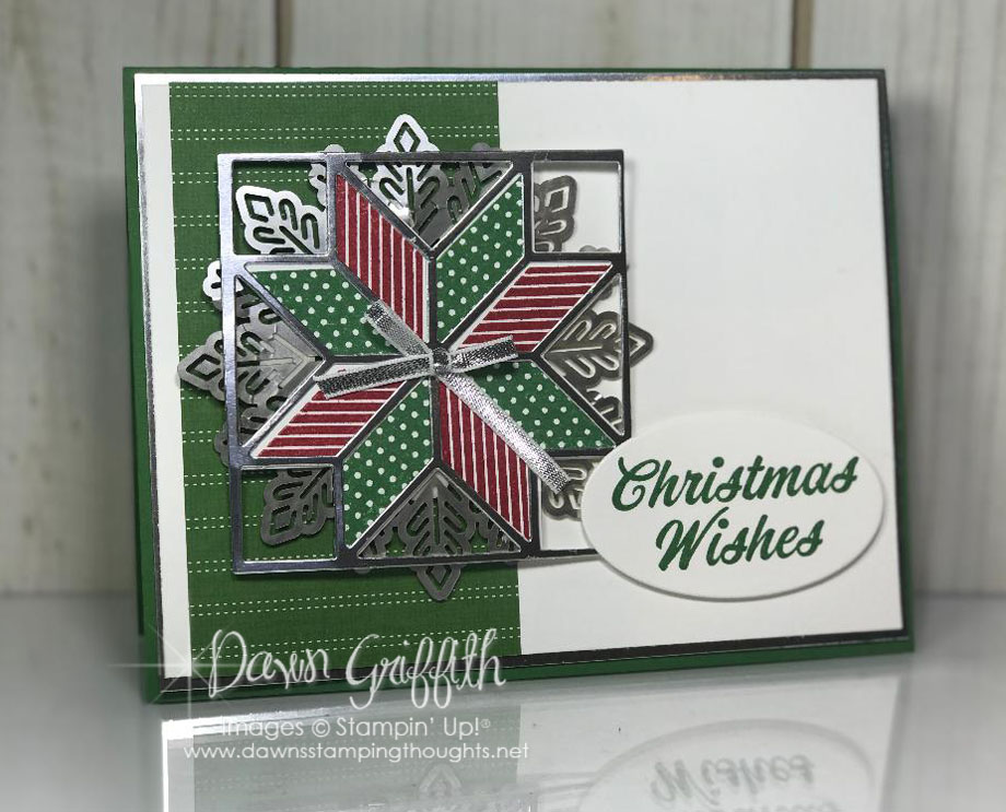 Christmas Quilt Card Video Dawn S Stamping Thoughts