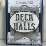 Deck the Halls card ~ In the Glitter Pit