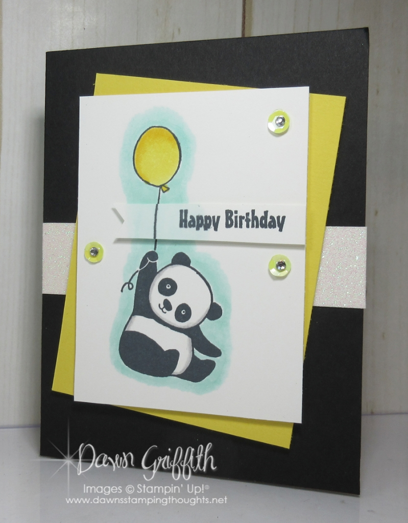 Party Pandas Birthday Card Dawns Stamping Thoughts