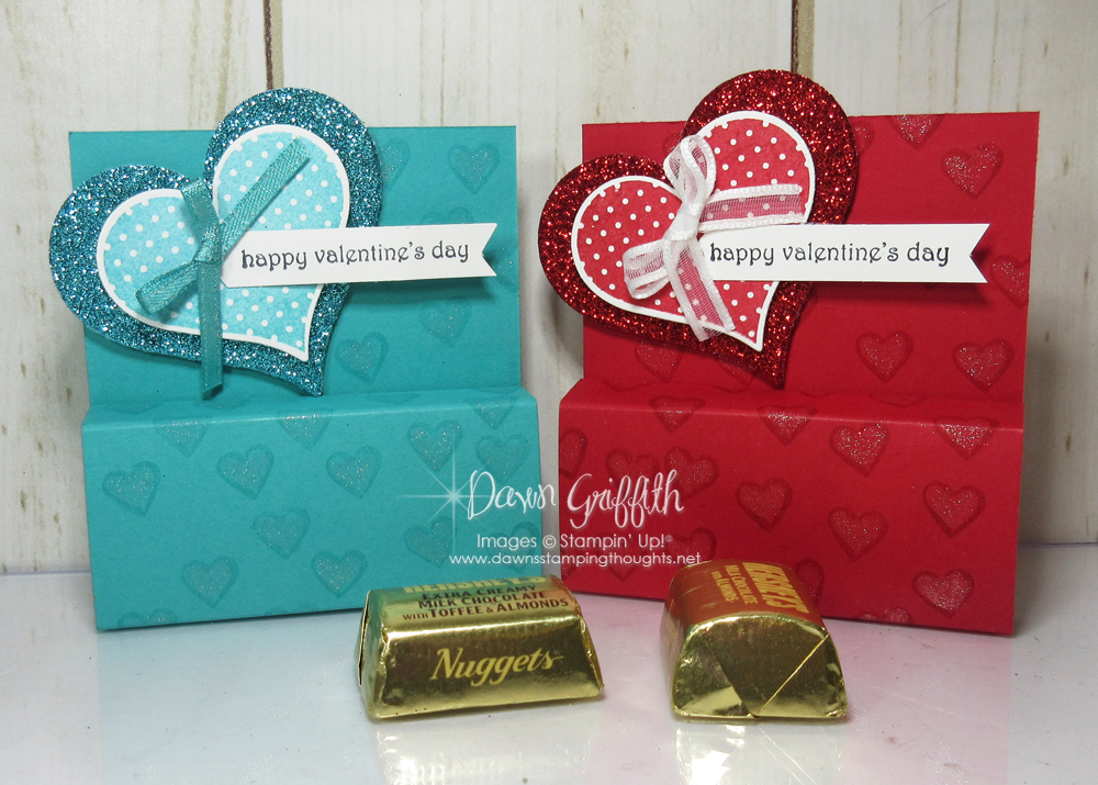 Valentines Chocolate Nugget holder video - Dawn's Stamping