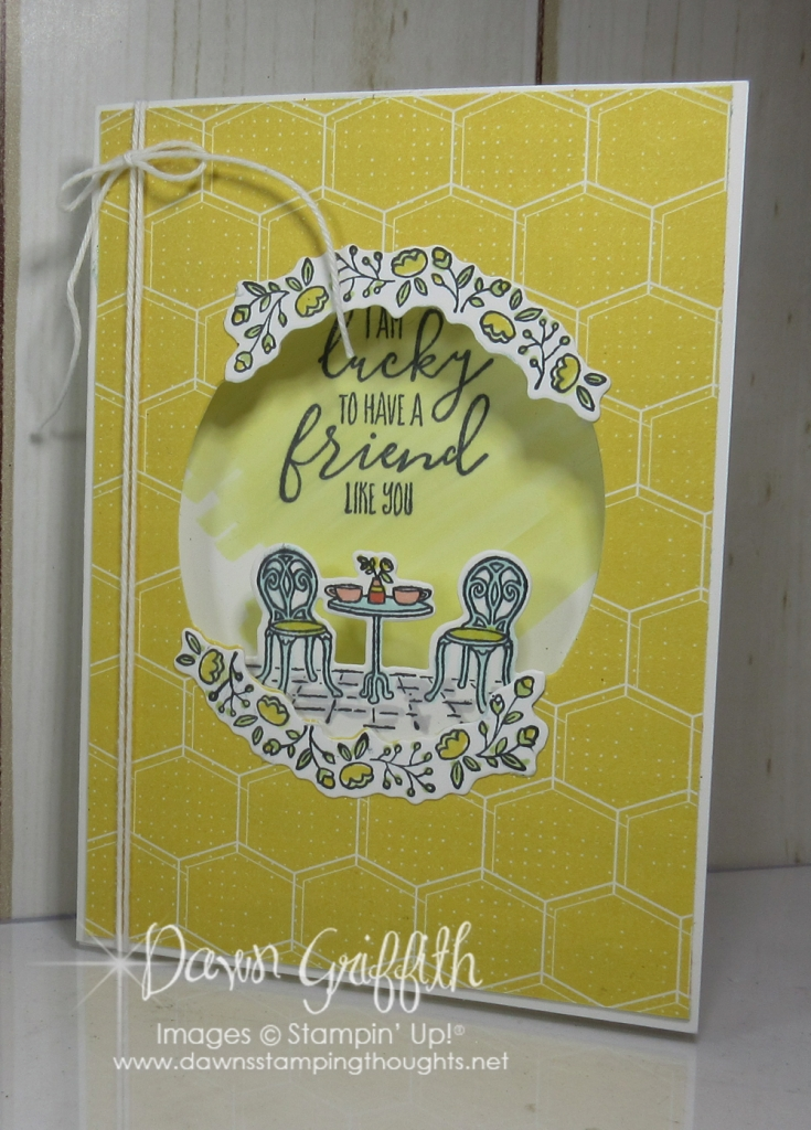 Charming Cafe Tri Fold Card Video  DawnS Stamping Thoughts
