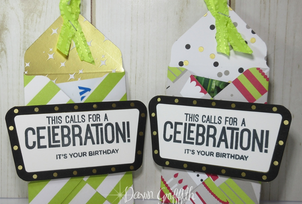 Birthday Gift Card holder with Envelope Punch Board video