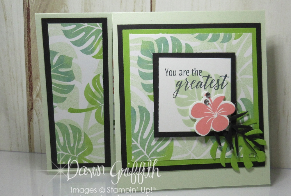 Tropical Chic Gift Card Holder video ~ Two for Thursday