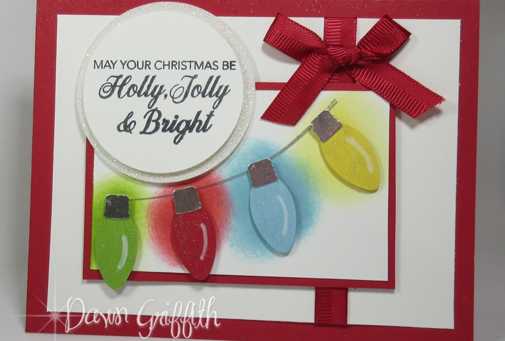 Two for Thursday~ Glowing Christmas Lights Christmas card video.