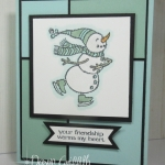 Mosaic Background Snowman card video
