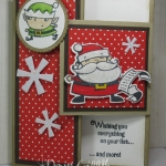 Glitter Queens Blog Hop ~ Christmas Fun Fold card video