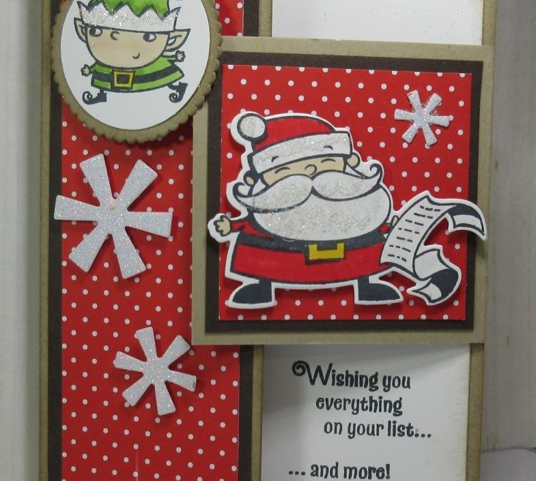 Glitter Queens Blog Hop ~ Christmas Fun Fold card video