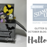 Glitter Queens October Blog Hop Halloween~ Rectangle Pop up card in a box video