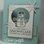 Snowman Peekaboo Window card video.