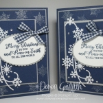 Two for Thursday ~ Snow is Glistening Card with Shimmer Paint stamping video