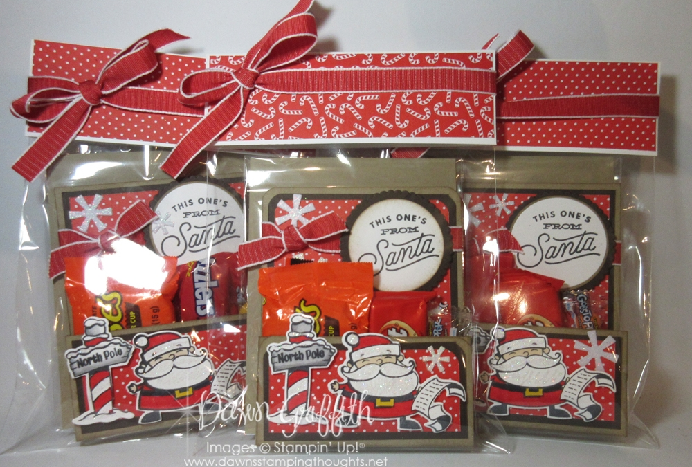 Goody bags from Santa gifts