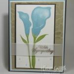 Lasting Lily Sympathy card