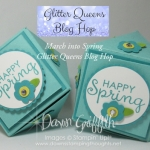 Glitter Queens Blog Hop~ Happy Spring Mini Faceted Box video