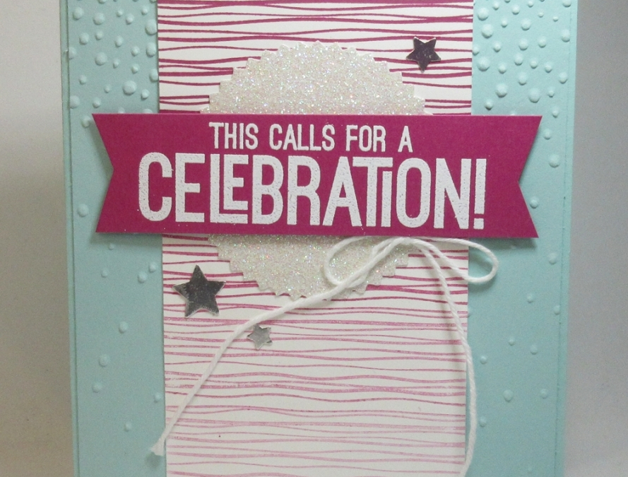 Sweet card from Stampin'Up! CEO Sara Douglass.