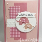 Little Elephant~ Congratulations baby card