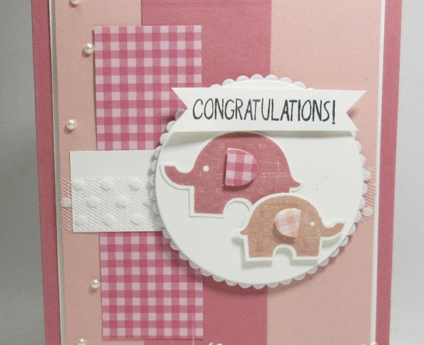 Little Elephant~ Congratulations baby card