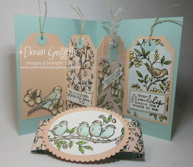 Pop Up Tag card video ~ Inspired by card from Stampin'Up