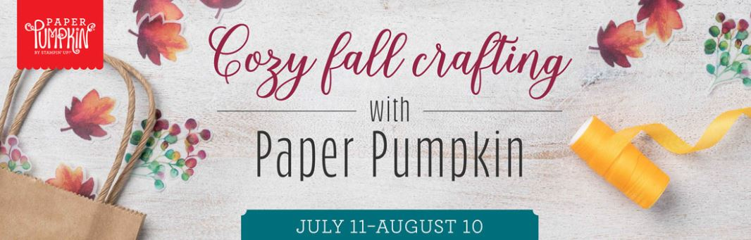 Getting Cozy with August 2019 Paper Pumpkin