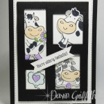 Die Cut Blocking Technique~ Selfie Cow card video.