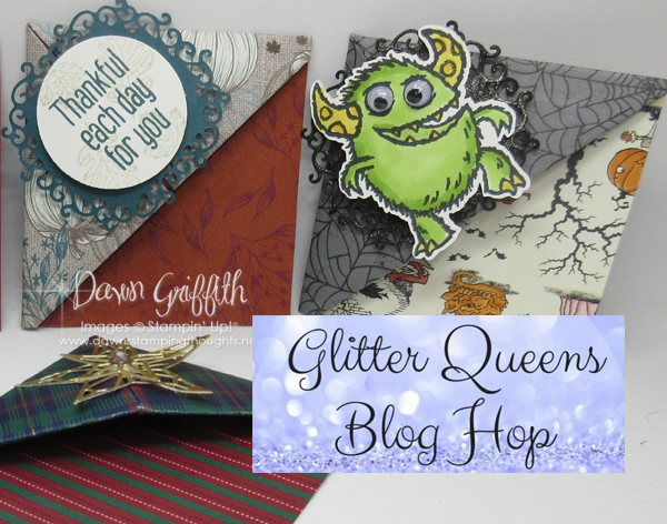 Glitter Queens Fall Fun Fold Blog Hop ~ Corner Bookmark video
