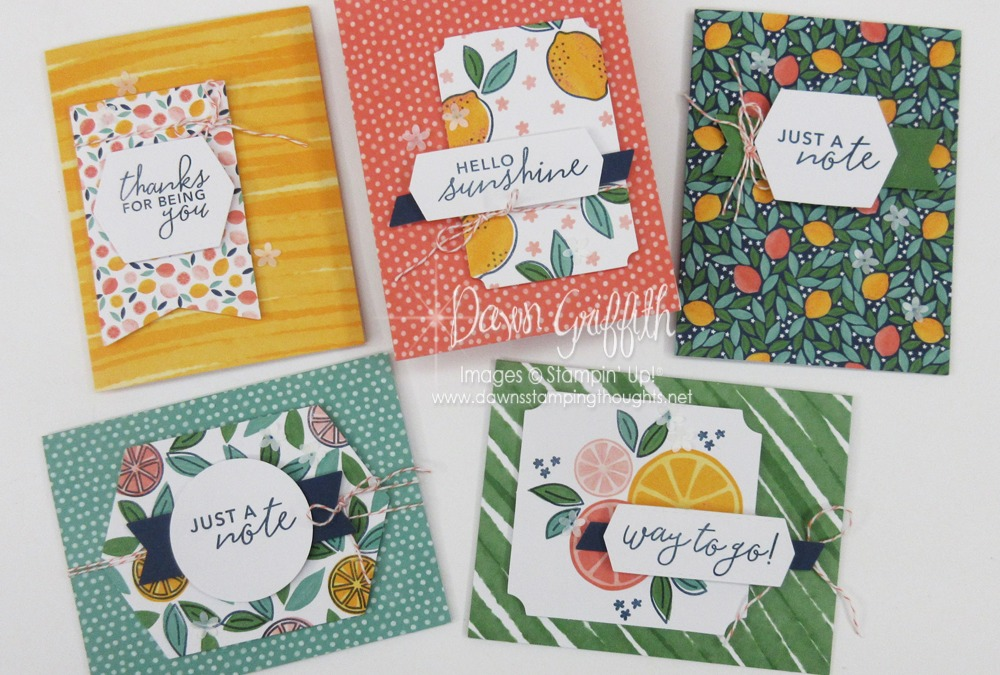 Stamping Thursday ~ Simply Citrus card kit