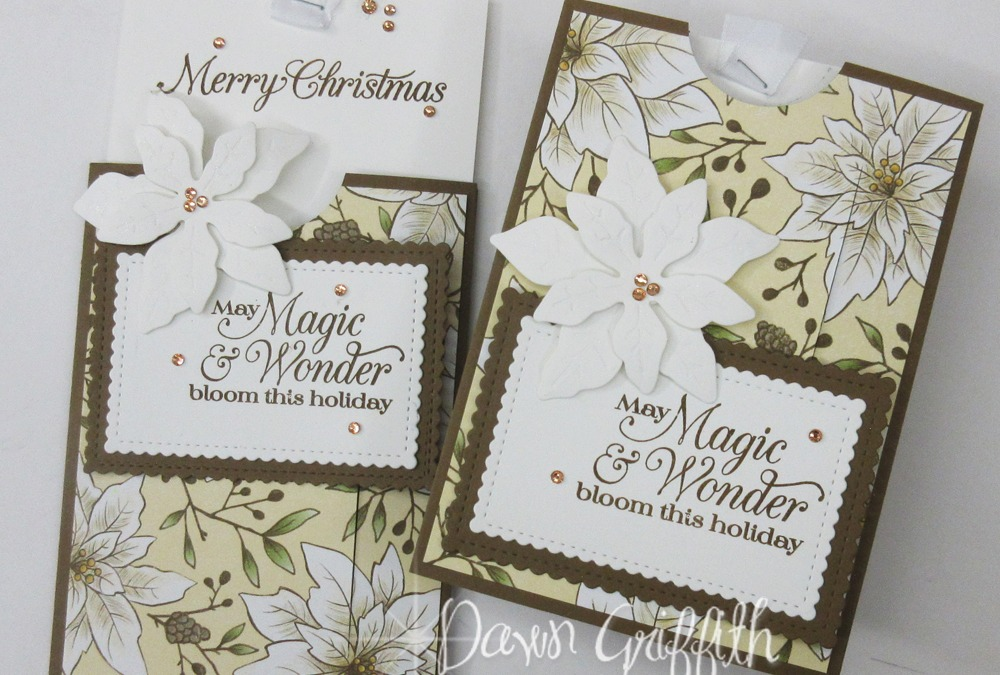 Poinsettia Place inspired slider card.