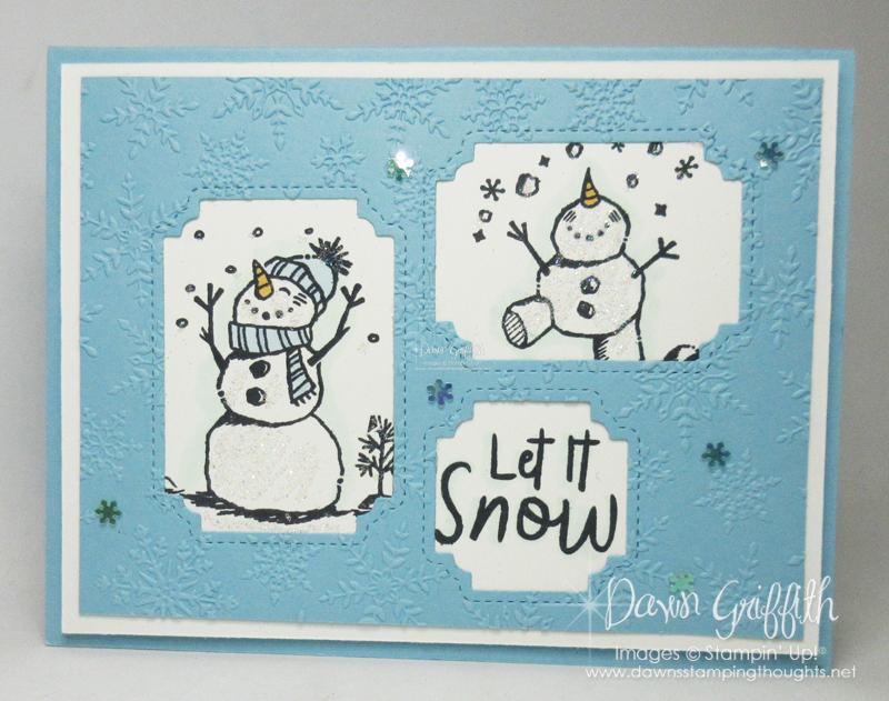Two for Thursday ~ Peek-a-Hoot Snowman card