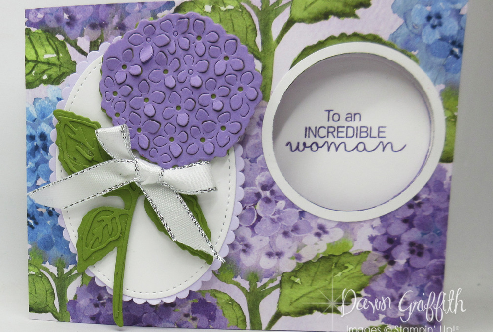 Two for Thursday ~ Hydrangea Peek a boo Window Card for Mom video