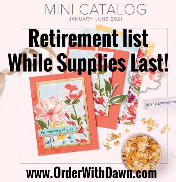 January – June 2021 Mini Retirement List with discounts